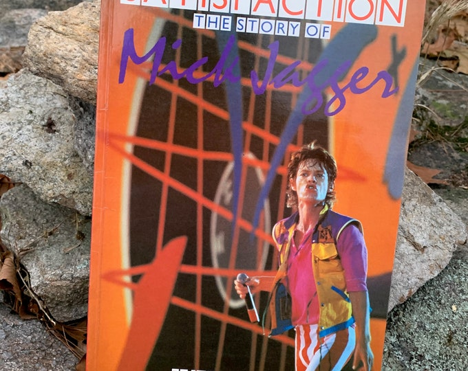 Vintage Satisfaction The Story Of Mick Jagger The Rolling Stones 1984 Softcover Book Keith Richards CharlieWatts Ron Wood Bill Wyman Sexy