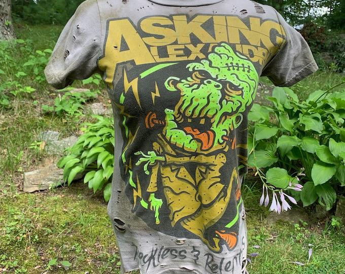 Asking Alexandria Band Shirt (Ladies XS) Metalcore Mastodon Frankenstein BFMV FFDP Of Mice and Men Bring Me The Horizon Avenged Sevenfold