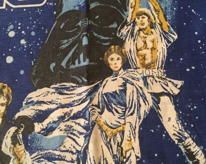 1977 Star Wars Flat Sheet and Pillow Case Darth Vader Boba Fett Jabba the Hutt R2D2 C3PO Luke Skywalker Yoda Chewbacca Disney