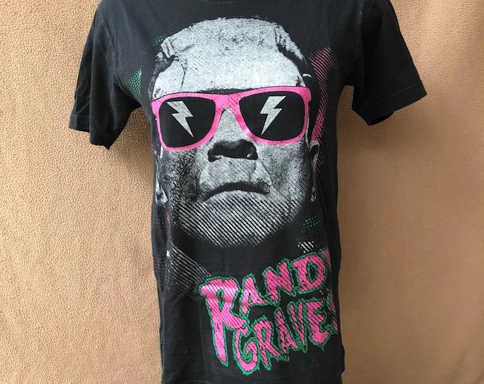 Randy Graves Band shirt - (Sz-small) Heavy Metal Frankenstein Edmonton YEG metalhead Karloff Shades BorisKarloff Band Tee RocknRoll Pink