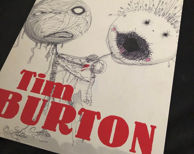Tim Burton Art Softcover Book Artwork Drawing Sketch MOMA Edward Scissorhands Gothic Goth Frankenweenie Corpse Bride Beetlejuice Oyster Boy