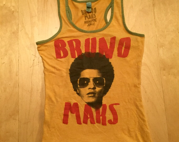 Bruno Mars  Band shirt -  Ladies (Med) Tank Top Pop Music Dance band Tee Finesse  24K Magic Popstar Rockstar Dancer Hawaii