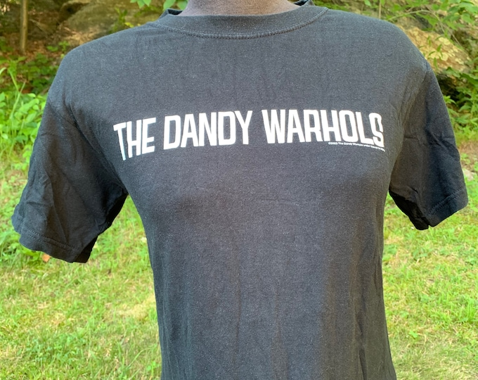 The Dandy Warhols (small) band tee alternative bohemian Primal Scream Pixies The Hives The Strokes The Velvet Underground band shirt