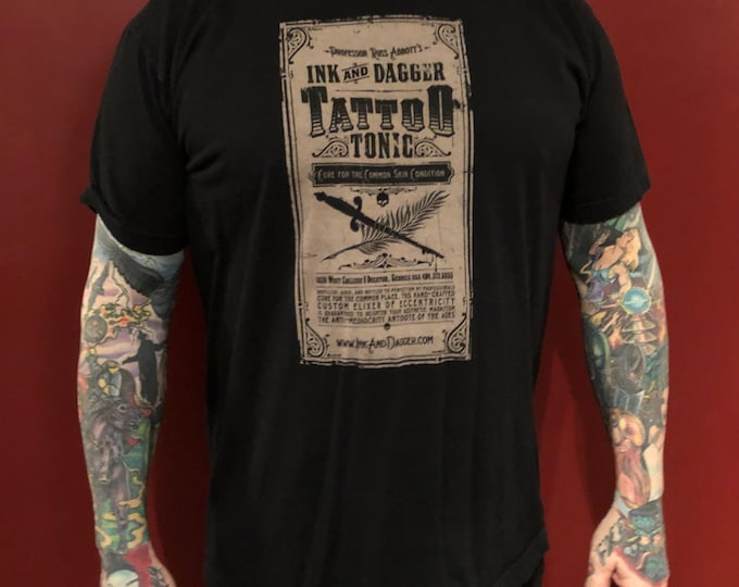 Ink and Dagger Tattoo Shop Tattoo Artist Tshirt (XL) Tattooing Tattooed Tattoos Inked Tattooer Tattooist Atlanta Georgia Russ Abbott Artist