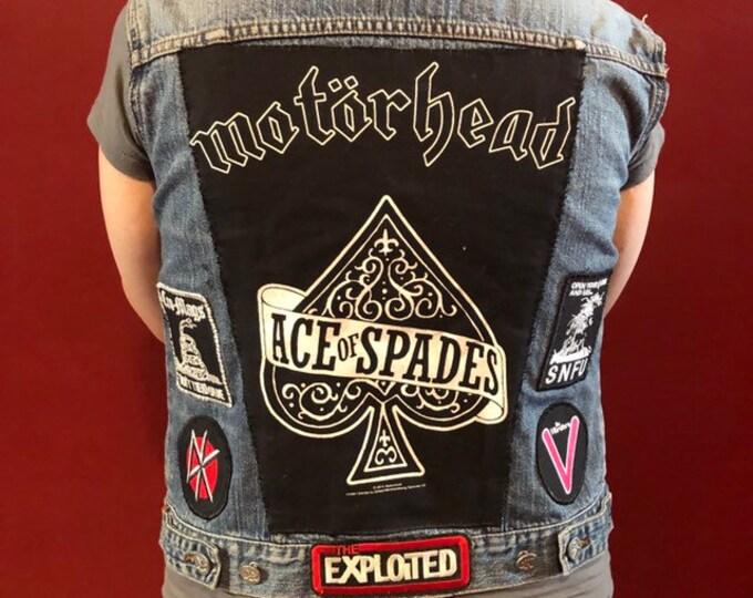 Punk Denim Vest - Punk Patches Motorhead Misfits CBGB OMFUG Punk Rock Ramones Punk Blondie Lemmy Kilmister Danzig Dead Kennedys Cromags