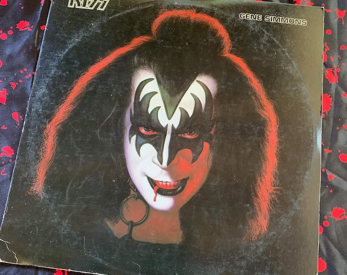Vintage 1978 Gene Simmons Solo Album 33 rpm VINYL Album Paul Stanley Peter Criss Ace Frehley Includes ALL the Inserts and Goodies Eric Carr