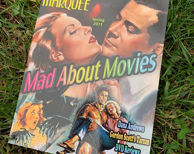 Midnight Marquee Spring 2011 Softcover Book Magazine Tarzan Three Stooges Dana Andrews Gordon Scott Anthony Mann Robert Mitchum Hollywood