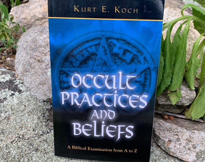 Vintage 1971 Occult Practices and Beliefs Softcover Book Witch Occult Tarot Witches Witchy Goth Gothic Sorcerer Pagan Halloween Witchcraft