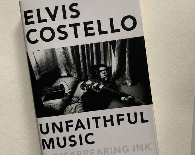 Vintage Elvis Costello Hardcover Book Unfaithful Music Stiff Records The Clash Sex Pistols The Damned Nick Lowe Dave Edmunds Joe Jackson