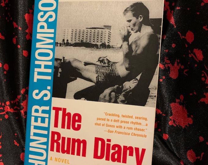 VINTAGE 1998 Hunter S. Thompson Softcover Book The Rum Diary Ralph Steadman Jack Kerouac Charles Bukowski Fear and Loathing in Las Vegas