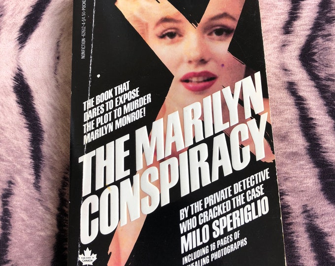 Vintage Marilyn Monroe Paperback Softcover Book - 1986 - Conspiracy Mystery Goodbye Norma Jean Pinup Jayne Mansfield Marlene Dietrich sexy