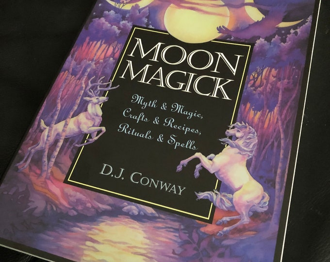 Vintage Moon Magick softcover Book White Witch Altar Healing Spells Wiccan Witch Witchcraft Coven Occult Pendulums Witches Gothic Candles