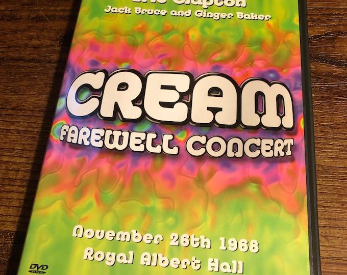 CREAM DVD Farewell Concert Eric Clapton Jack Bruce Ginger Baker British Invasion The Kinks The Who Steve Winwood Jimi Hendrix Blind Faith