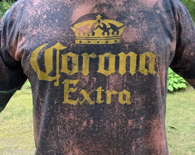 Distressed Classic CORONA Extra Tshirt Modello Beer Coors Anheuser Busch Michelob PBR Labatts Keg Brewery Tecate Brew Guinness Budweiser