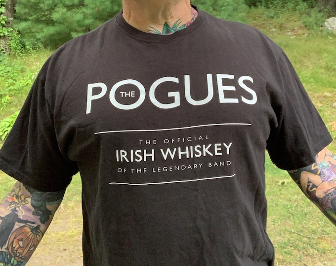 The Pogues Irish Whiskey (XL)  Irish Punk Punks Not Dead Dropkick Murphys The Mahones Shamrock Gogol Bordello Shane MacGowan Joe Strummer