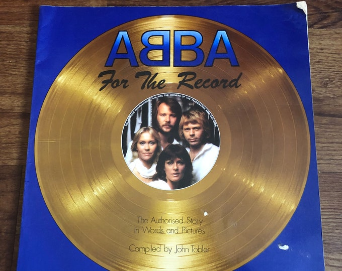 Vintage 1980 ABBA For The Record Book  Disco Music Pop Stockholm Agnetha Fältskog Björn Ulvaeus Benny Andersson Anni-Frid Lyngstad