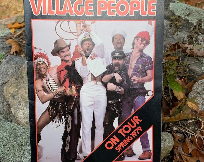 The Village People 1979 Tour Book Program Studio 54 Nightclubbing Disco Grace Jones YMCA Macho Man In The Navy Donna Summer Bee Gees Abba