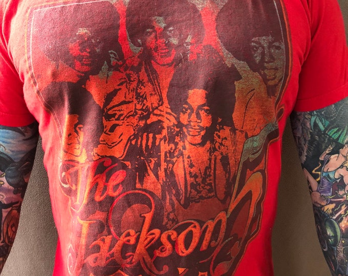 Jackson 5 Michael Jackson Band shirt  Sz (M) Motown Band Tee Thriller J5 Pop music Rhythm and blues Soul music Disco Funk Bubblegum pop