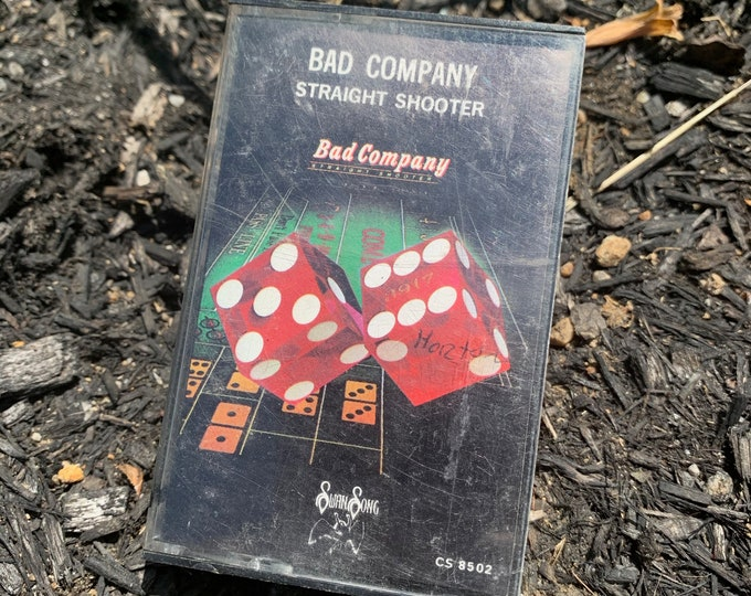 Vintage Bad Company Straight Shooter Cassette Tape Paul Rodgers David Coverdale Black Sabbath Whitesnake Judas Priest Queen Brian May Free