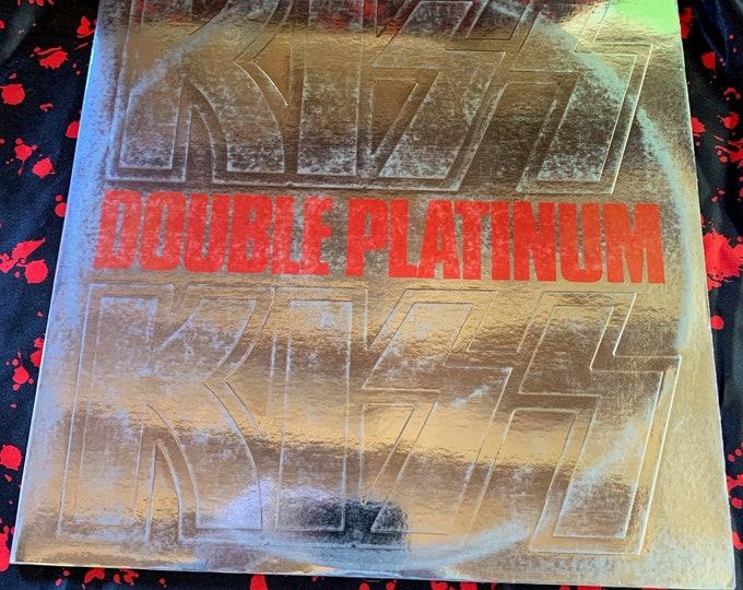 Vintage 1978 KISS Double Platinum Album 33 rpm VINYL  2 LP Set Gene Simmons Ace Frehley Paul Stanley Peter Criss Casablanca Records Strutter