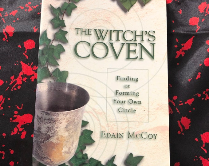 Vintage 1997 The Witches Coven Softcover Book Witch Occult Tarot Crystals Witchy Salem Goth Gothic Sorcerer Hex Pagan Halloween Witchcraft