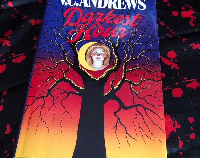 Vintage 1st Edition VC Andrews Darkest Hour Hardcover - Flowers in the Attic - Petals on the Wind  Horror Witchcraft Gothic Mystery