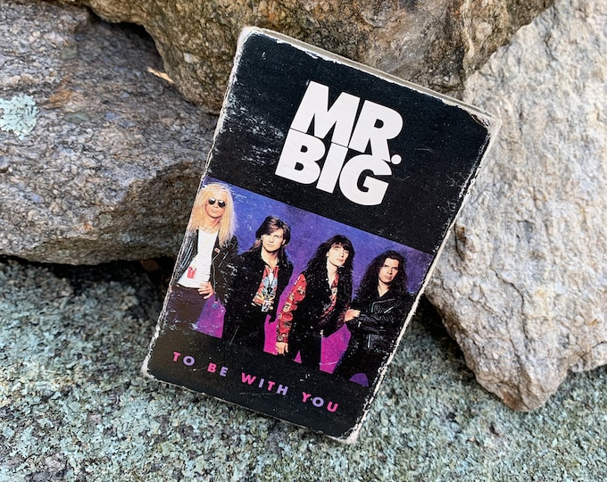 Vintage 1991 Mr Big To Be With You SINGLE Cassette Paul Gilbert Eric Martin Billy Sheehan David Lee Roth Steve Vai Extreme Gary Cherone Styx