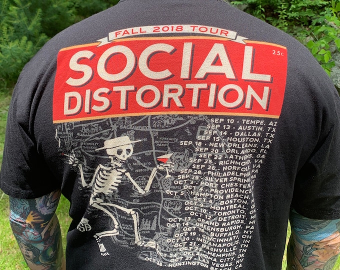 Social Distortion 2018 Tour Shirt (XL) Punk Band Shirt Mike Ness Punk Rock Punks Punks Not Dead Orange County Bad Religion Dead Kennedys
