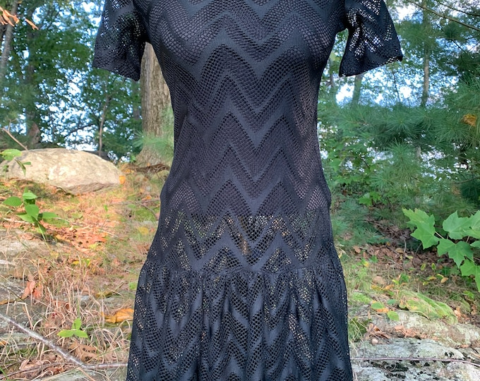 Dex Wednesday Addams Lace Mimi Dress (Ladies XS) Horror Goth Gothic Pinup Sexy Gothgirl Tunic Vamp Vampire