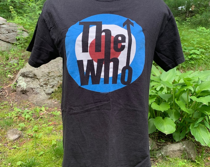 The Who Band Shirt (M)  Pete Townshend Roger Daltrey Keith Moon Tommy Quadrophenia The Kinks British Invasion Eric Clapton Rod Stewart