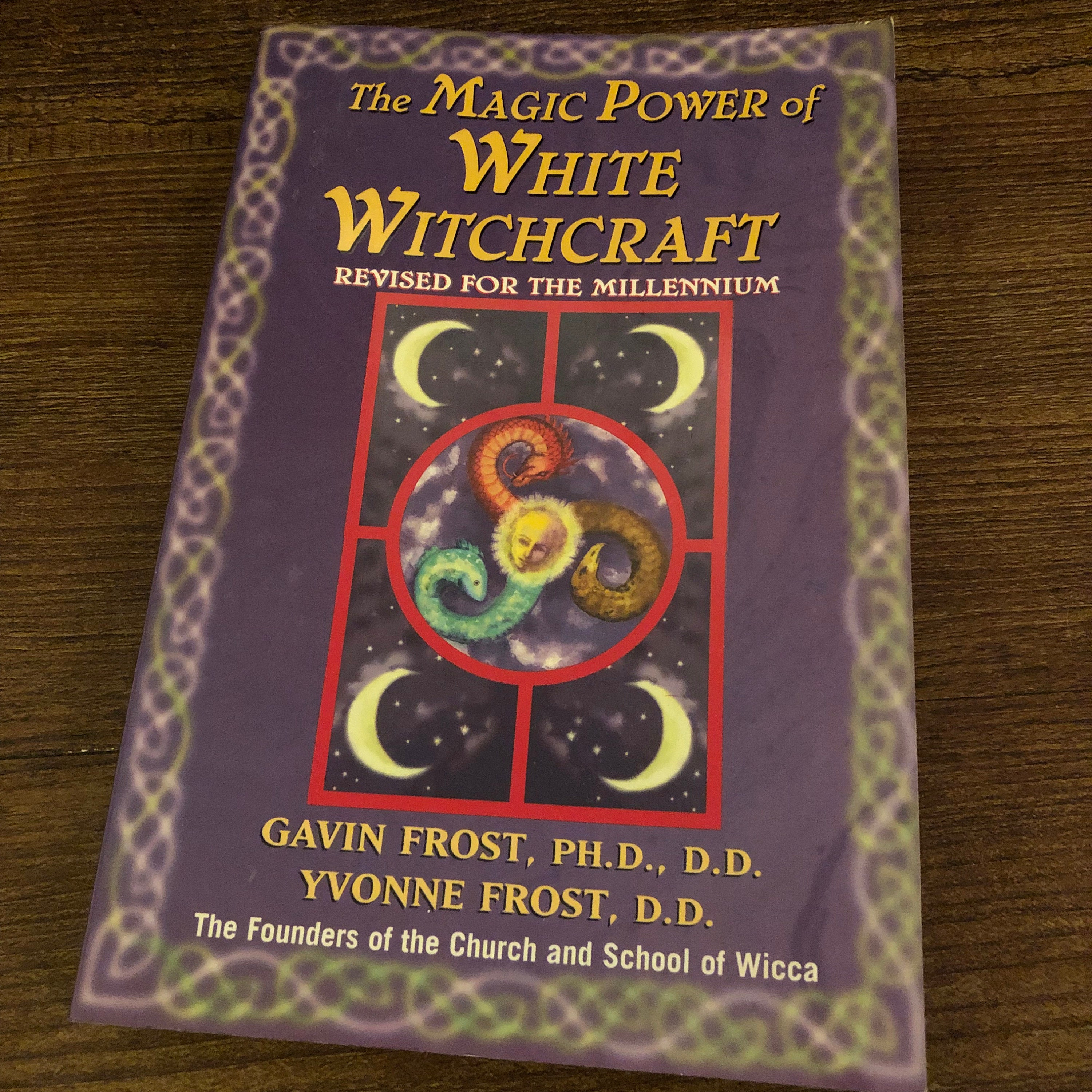 Vintage White Witchcraft softcover Book Wiccan witch