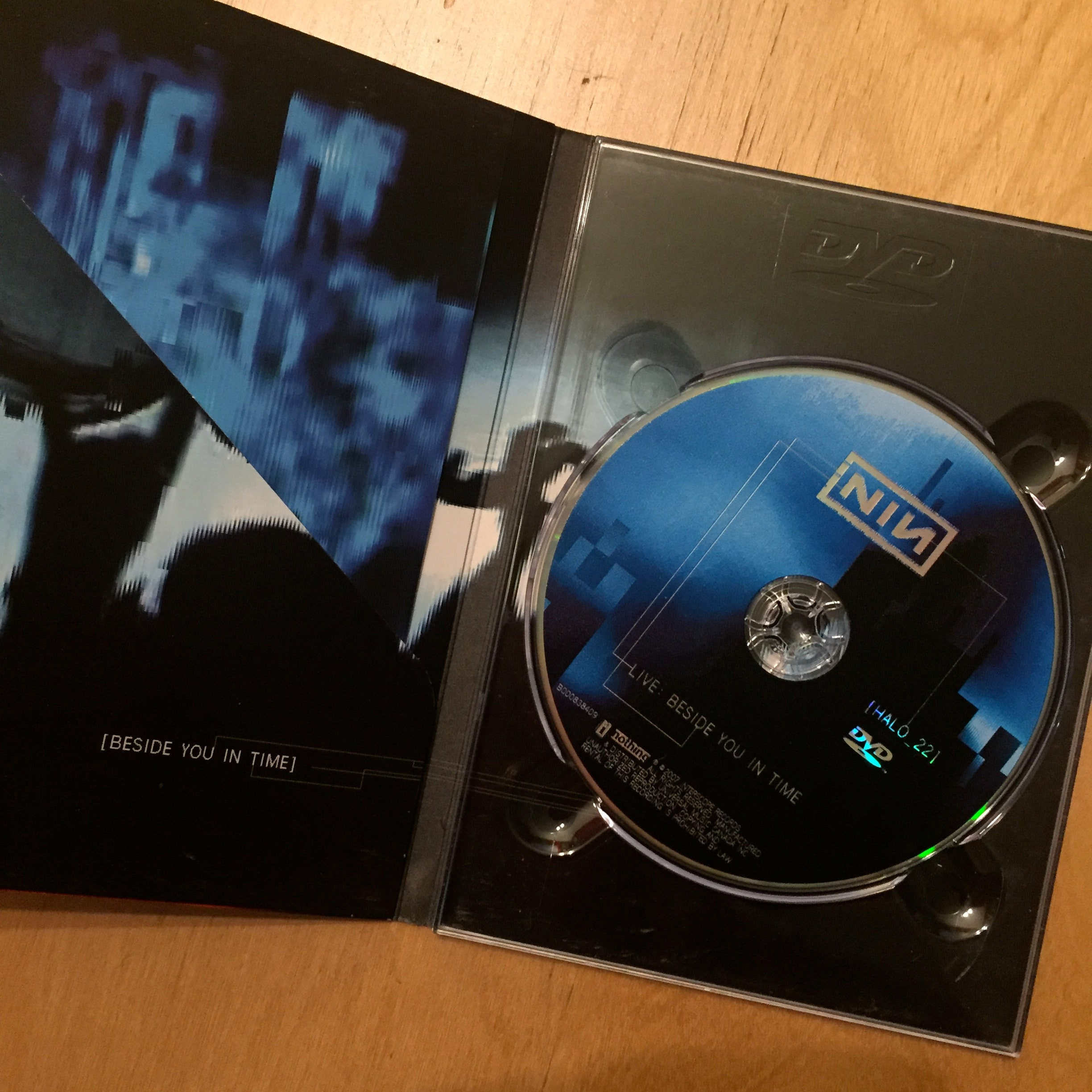 NIN Nine Inch Nails Live Beside You In Time DVD goth gothic ...