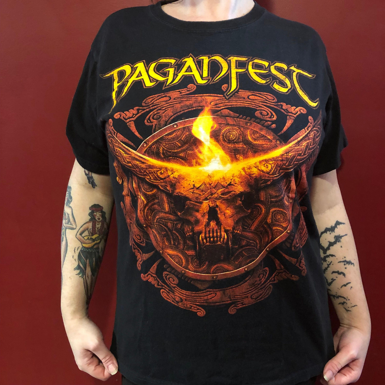 Paganfest Ensiferum TYR Band Shirt (M) Heidevolk Trollfest Hellsott