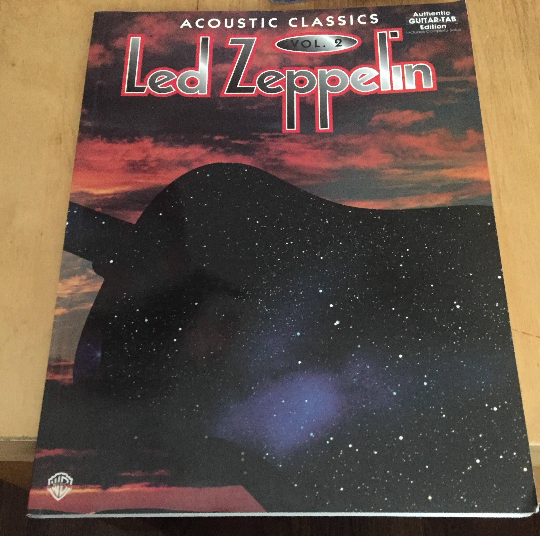 led zeppelin acoustic classics vol 2 1995 guitar tab edition jimmy page robert plant guitar. Black Bedroom Furniture Sets. Home Design Ideas