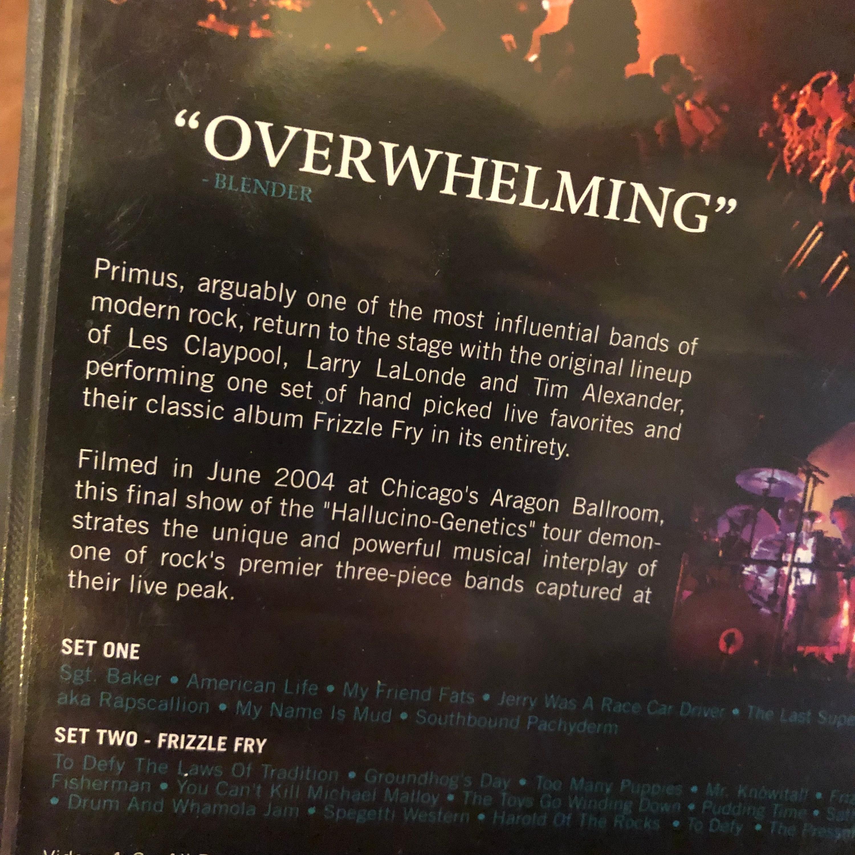 PRIMUS DVD Hallucino-Genetics Live 2004 Les Claypool Faith