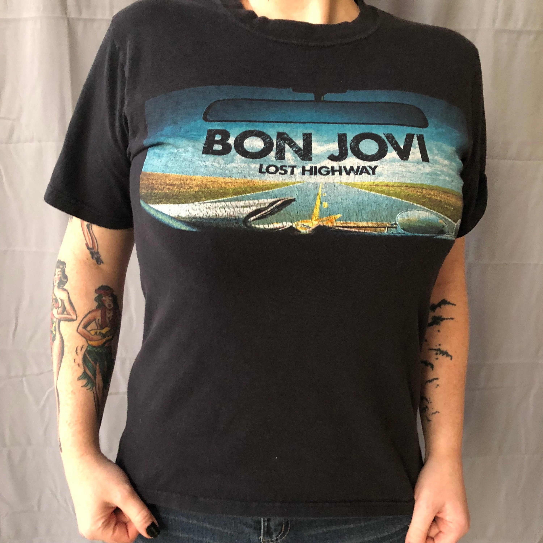 d8bcf68d Bon Jovi Lost Highway Tour Shirt Band shirt (S) Jon Bon Jovi Band Tee  Richie Sambora NJ Hair Band New Jersey Slippery When Wet Def Leppard