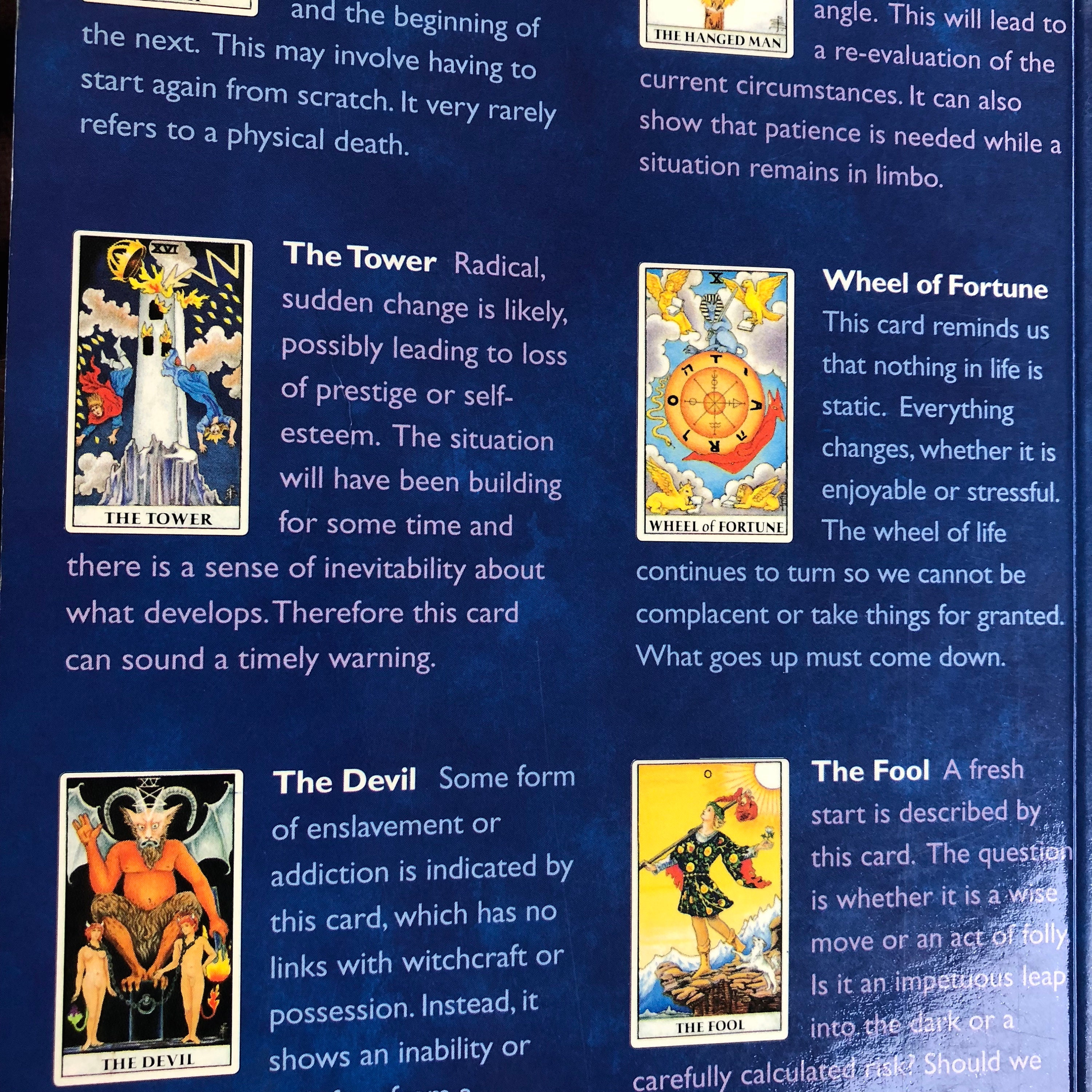 Tarot for Life and Love softcover Book - Tarot Cards Witch Horror