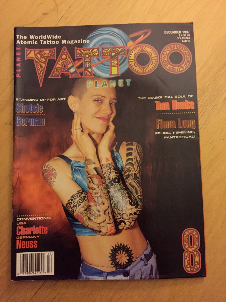 Tattoo Planet Dec 1997 Worldwide Atomic Tattoo Magazine   Etsy