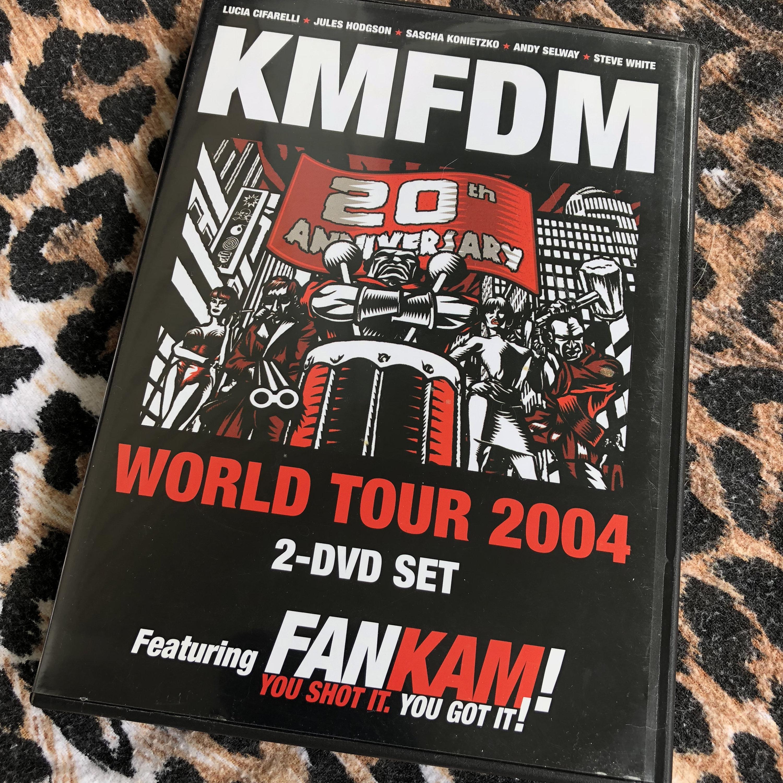 KMFDM 20th Anniversary World Tour 2 Disc DVD Set (2004) FanKam German  Industrial Revolting Cocks Skinny Puppy Ministry NIN Nine Inch Nails