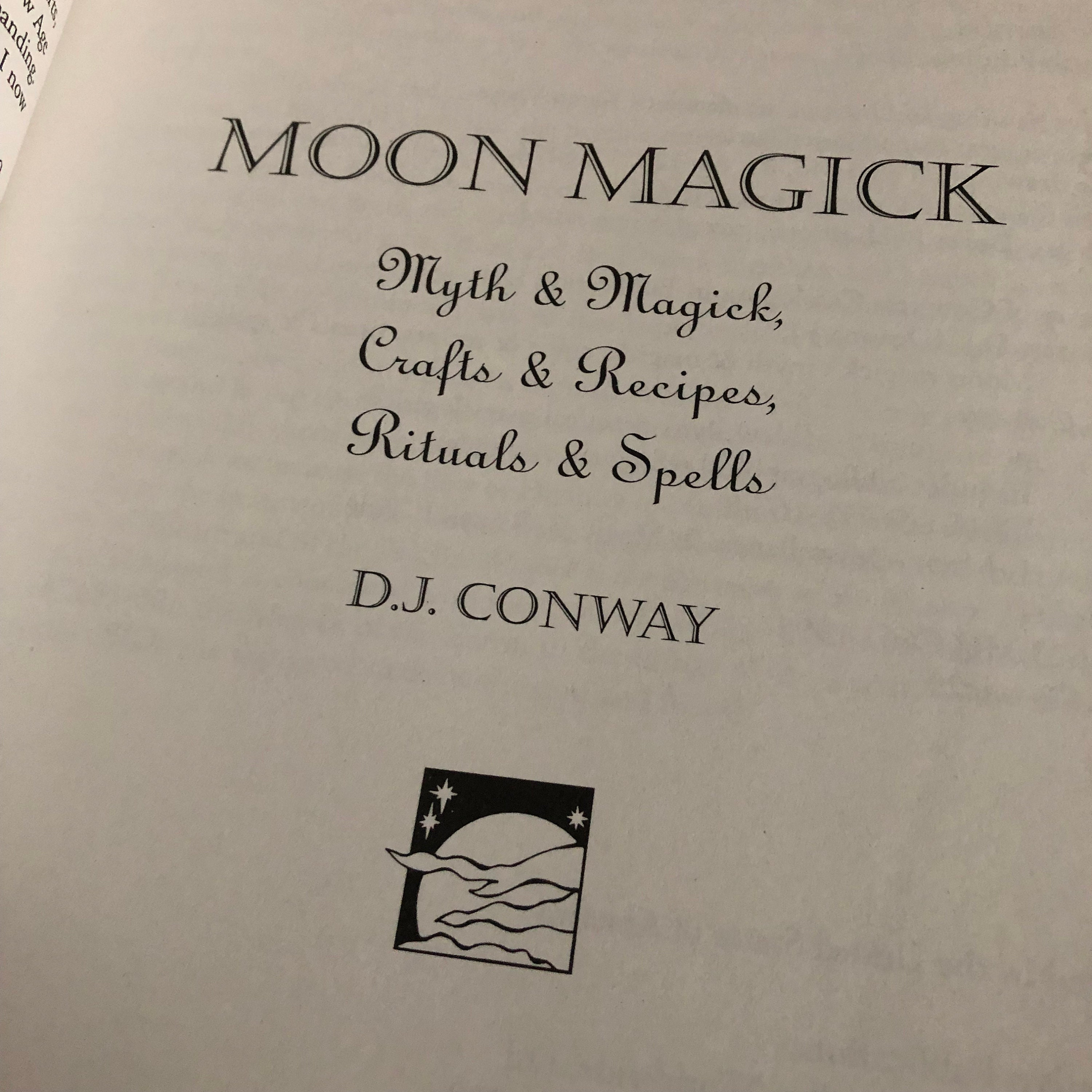 Vintage Moon Magick softcover Book White Witch Altar Healing