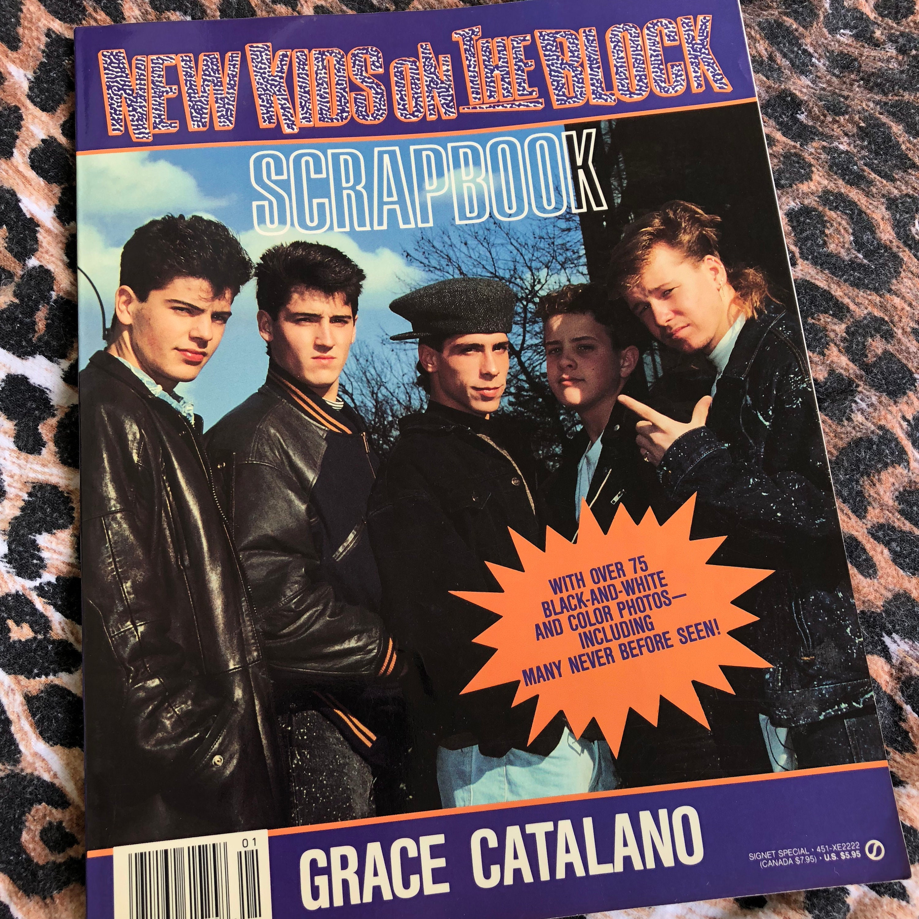 Vintage New Kids On The Block 1990 Softcover Book NKOTB boy bands ...