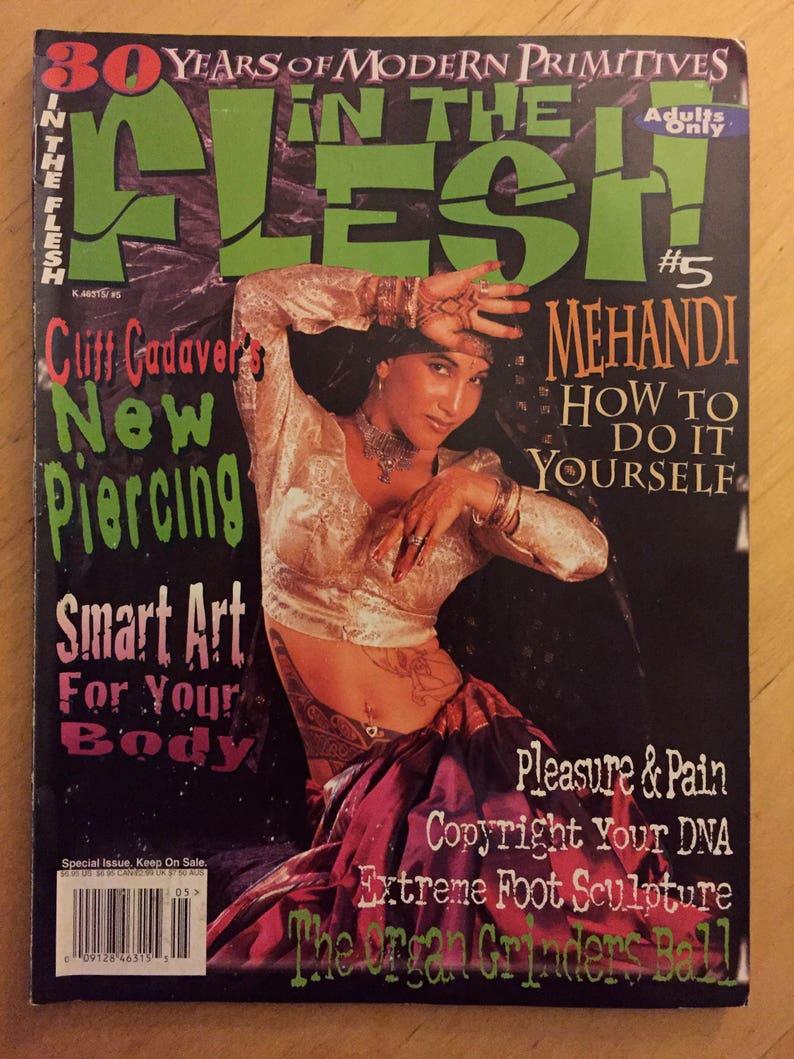 In The Flesh Tattoo & Piercing Magazine vol 2 5 1997   Etsy