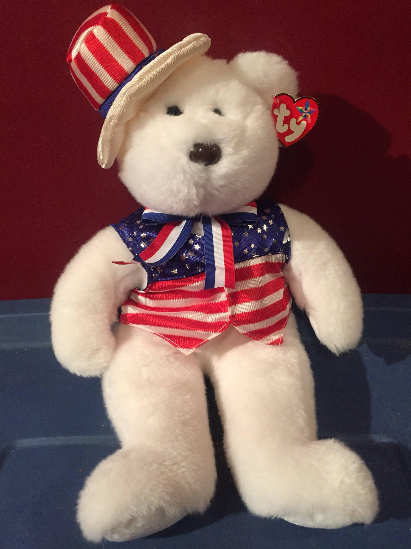 All American Trio Beanie Buddies Beanie Babies TY USA Patriotic ... ac9ab26160c