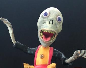 Skeleton Bobble Body in Devil Lantern