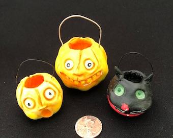 Three Teeny Tiny Halloween Ornaments