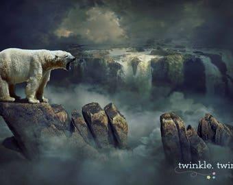 polar bear overlay etsy