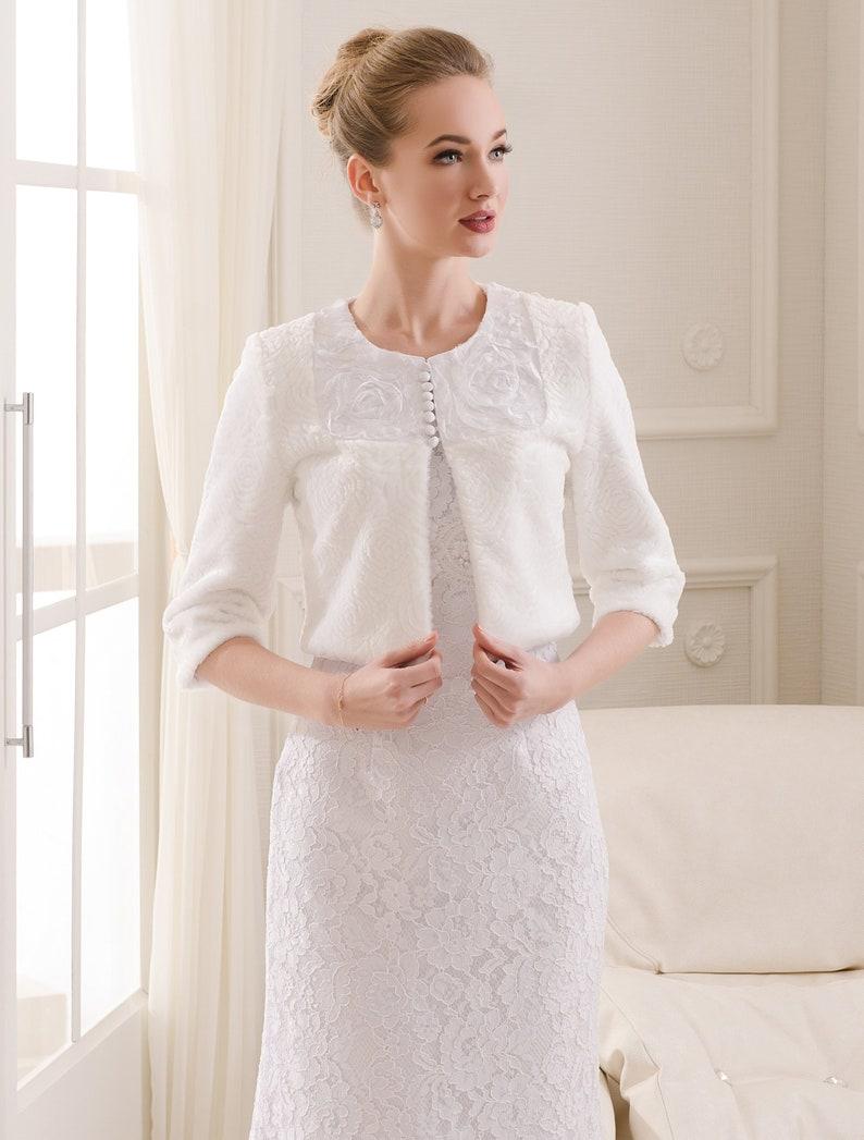 8f09b8b0c05d5 Bridal coat Wedding coat White coat Ivory coat Faux | Etsy