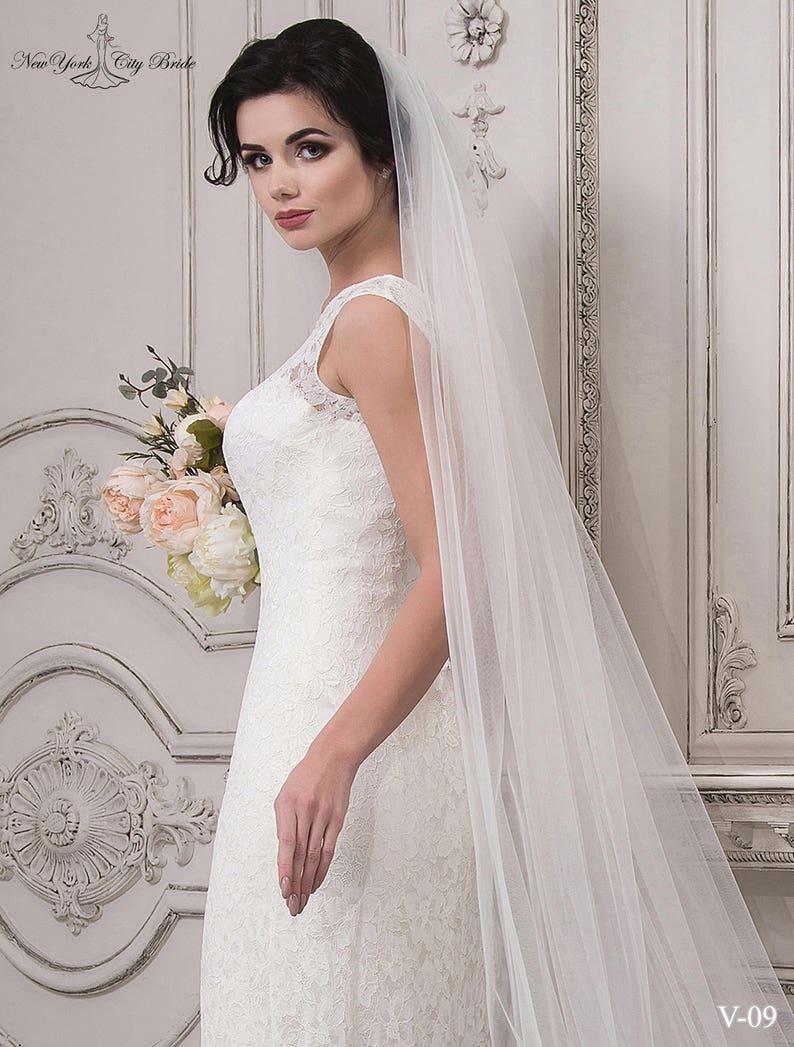 Fatti a mano Monica velo di sposa velo da sposa velo bianco  38810e587496
