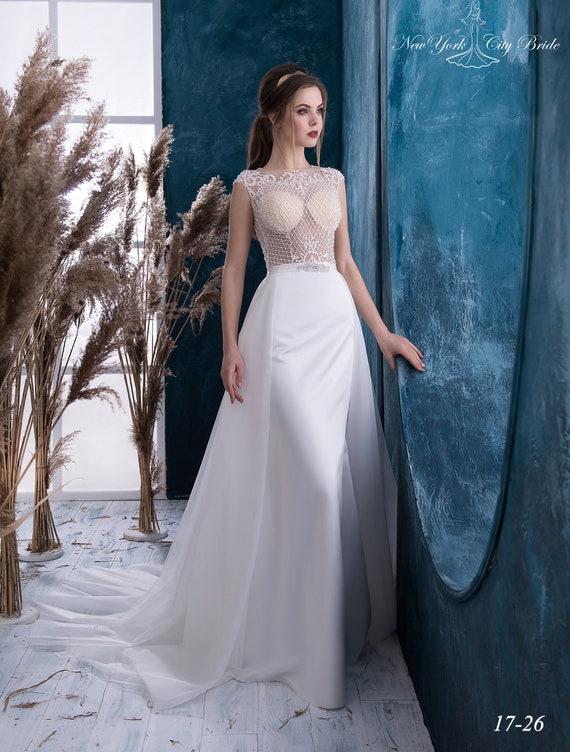 back Wedding dress Open wedding Mermaid from dress made wedding transformer dress NYC in Bride Teresa Europe dress Wedding r7qrOdwU