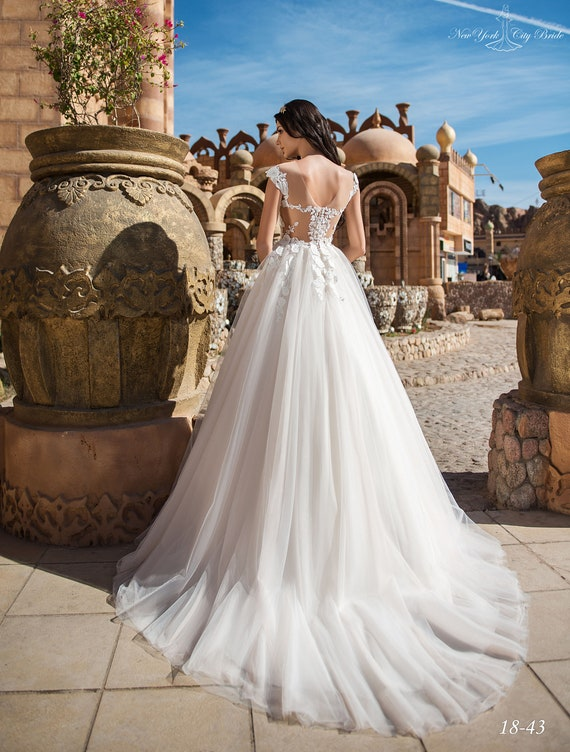 with Maida dress wedding wedding White Wedding train dress dress NYC Wedding from Ivory Bride dress T0ffB